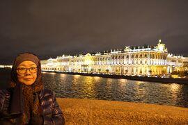 初冬のロシア旅(17)サンクトペテルブルグ・シーケンス 妻と2人でライトアップした街巡りとネフスキー通りのショッピングを楽しむ。