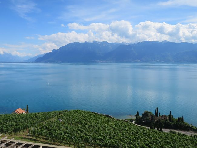 イタリア・スイス・フランスをめぐる8泊10日の夏の旅<br />5日目の宿泊地は世界文化遺産「ラヴォー地区の葡萄畑」の中にあるB&B<br />レマン湖に面した素晴らしいロケーションでした。