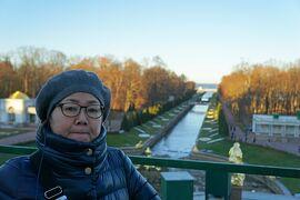 初冬のロシア旅(19)ペテルゴフの夏の離宮でピョートル大帝の宮殿見学し、次回は噴水の美しい季節に再訪することを誓う。