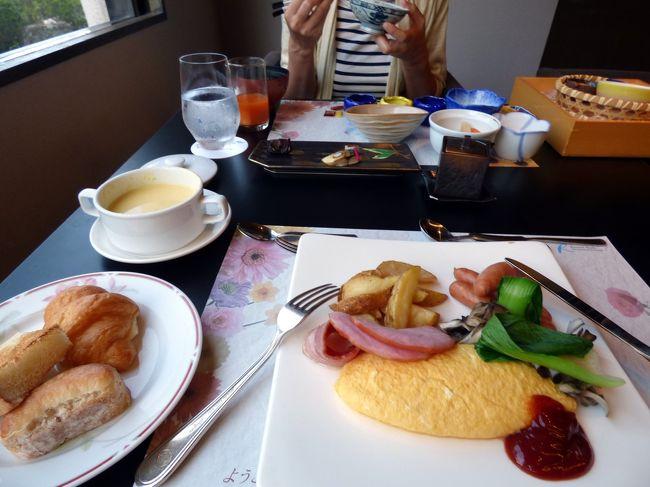 浜名湖ロイヤルホテルの朝食はバイキングがメインですが、メンバーは和・洋食のお膳出しも選ぶことが出来ます。<br /><br />ツアーで来ている賑やかなお客さんと一緒のバイキングは気が進まないので、日本料理 遠州灘で私は洋朝食、妻は和食膳を予約しました。<br />