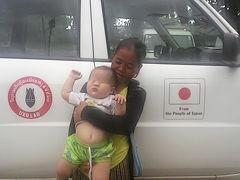 ラオス、セコンの街のUXO(ラオス政府の不発弾対策機関)に、目がのっぺらぼうの赤ちゃんが連れられてきた。たぶん枯葉剤、ダイオキシンの被害者。何とか日本で医療を受けられないものか。。。12月5日 追記。SFEという援助組織が見つかりました !!!!!!!!!!!!