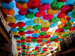 ポルトガル。ユーラシア大陸最西端、未知の国。 アンブレラフェスティバルアゲタの町と、パジャマシティコスタノヴァ⑧