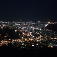 2017 11 函館-3 函館山の夜景と夜の赤レンガ倉庫