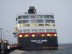 オーロラ フッティルーテン(新航路)北上航海 TROLLF JORD Ⅰ finnsnes港