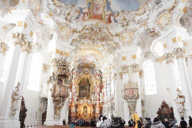 ドイツ旅行記3日目(ノイシュバンシュタイン城・ヴィ―ス教会・アウグスブルク)