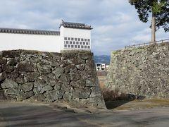 2017暮、南九州の名城巡り(3/26):12月12日(3):人吉城(3/7):人吉城址、水の手門跡、武者返しの石垣