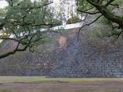 2017暮、南九州の名城巡り(25/26):12月14日(9):熊本城(3/4):復興途上の熊本城、隅櫓、外回りの見学、北側石垣、東側石垣