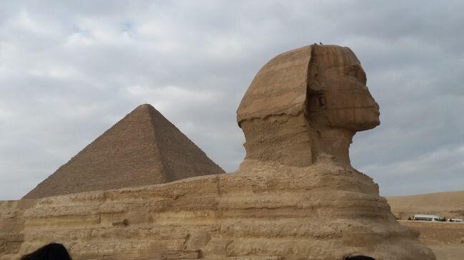 2018年1月14日(日)から21日(日)阪急トラピックス主催<br />「エジプト航空復路直行便!悠久の歴史に触れるエジプト・ナイル川<br /> クルーズ8日間」に参加しました。その1日毎の旅行記です。<br /> 主な行程は下記の通りです。<br />1月14日(日)1日目 成田空港発エジプト航空にてカイロへ<br />1月15日(月)2日目 カイロ着乗り継ぎルクソールへ 東岸観光 <br /> ◎カルナック神殿 ◎ルクソ-ル神殿<br /> クルーズ船「プリンセスサラー号」乗船<br /> op ファルーカ船セーリングと馬車乗車体験<br /> 船内にて「ベリーダンスショー」<br />1月16日(火)3日目 ルクソール西岸観光<br /> ◎王家の谷 ◎ツタンカーメンの墓<br /> ◎ハトシェプス女王葬祭殿 〇メムノンの巨像 <br /> OP◎ネフェタル王妃の墓 〇メスナの水門 <br />1月17日(水)4日目 馬車にてホルス神殿へ(◎ホルス神殿)→ <br /> コム・オンボへ(◎コム・オンボ神殿)→ アスワン<br /> 船内にて「象形文字(ヒエログラフ)教室」&ポロシャツ/Tシャツ販売<br /> 船内にて「ガラベイヤパーティー」<br />1月18日(木)5日目 OPイシス神殿 ☆カルトウーシュのお店<br /> ◎アブシンベル神殿 ◎小神殿 → アスワン <br /> 船内にて「ヌビアンショー」<br />1月19日(金)6日目 アスワン空港 → カイロ空港 →<br /> サッカラ・ダハシュール観光(〇赤のピラミッド〇屈折ピラミッド〇階段 ピラミッド)→ ギザの3大ピラミッド&スフィンクス観光(◎クフ王の ピラミッド〇メンカウラー王のピラミッド〇スフィンクス〇パノラマポン ト)☆香水の店<br /> OP イスラム地区のライトアップ観光とカイロタワー(夕食付)<br /> シュタイゲンベルガーピラミッドホテル泊<br />1月20日(土)7日目 カイロ市内観光<br /> ☆パピルスのお店 ◎モハメドアリモスク<br /> ◎エジプト考古学博物館 OPツタンカーメンの黄金のモスクとプロカメ ラマンによる記念写真撮影 〇ハーン・ハリーリ)→ 空港<br />1月21日(日)8日目 エジプト航空直行便にて成田へ 解散<br />