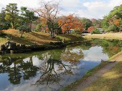 2017暮、滋賀と京都の名城巡り(10/17):12月2日(10):彦根城(10/11):槻御殿(楽々園)、玄宮園、庭園散策、南天、トベラ