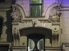 バルト三国 (1)リガの街歩きとユーゲントシュティール建築群の夜景(苦笑)