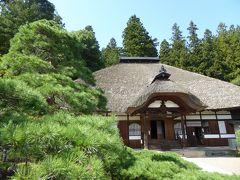 秋の別所温泉♪ Vol11(第2日) ☆別所温泉:「常楽寺」茅葺屋根のお寺と美しい松の庭園♪
