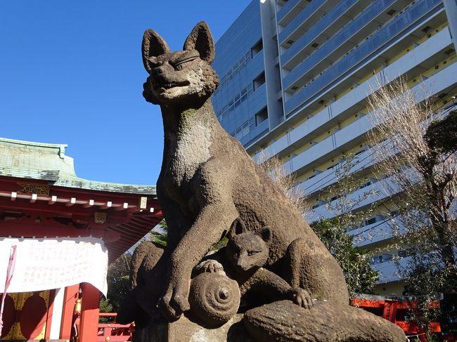明けましておめでとうございます。今年もよろしくお願いします。<br />年末から家族がインフルエンザになりお正月はどこにも行けず、家事に明け暮れました。<br />さすがに3日には1人で今年最初のウォーキング『羽田七福いなり』に出かけました。<br />写真は穴守稲荷神社のお狐様です。<br />