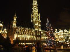 冷たい雨の降りしきるブリュッセルの街歩き