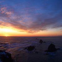 同じ場所から水平線での日の出・日の入りを見る旅