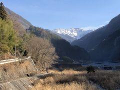 不動温泉佐和屋に泊まって南信を巡る(2)赤石岳を望む大鹿村