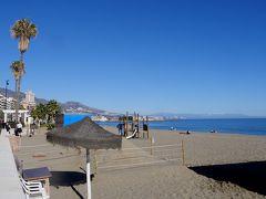 2017.12アンダルシアドライブ旅行5-Fuengirolaビーチ遊歩道散歩,スーパーで買い物