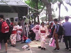 ホーチミンの9/23公園、Japan Vietnam, Nhat Viet, Festival、ジャパン ベトナム フェスティバルの風景。ベトナム人コスプレーヤーには聖地。在ホーチミン日本人には憩いのお祭り。