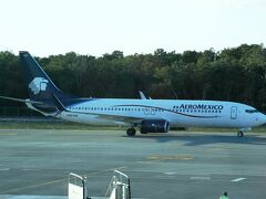 カンクン国際空港からメキシコシティ国際空港経由でアエロメヒコ航空で成田空港へ帰国しました。