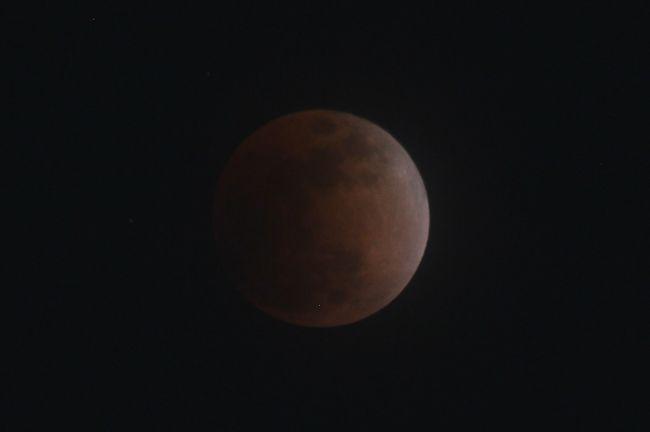 皆既月食 途中から曇っちゃったよ!