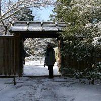 雪化粧の修学院離宮から下鴨神社