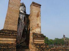 2018冬タイ(1)バンコク経由、スコータイ城壁内部と西側