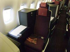 2018年 JL3002 伊丹(ITM)-成田(NRT) B767-300ERのクラスJは国際線機材ビジネスクラスシート SKY-SUITEⅡ 特典航空券搭乗記