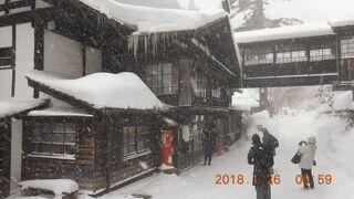 雪の北群馬、秘湯を巡る 4. 3度目の法師温泉長寿館、今回は日帰り湯