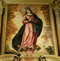 2017.12アンダルシアドライブ旅行16-セビリア大聖堂1 絵画に感激
