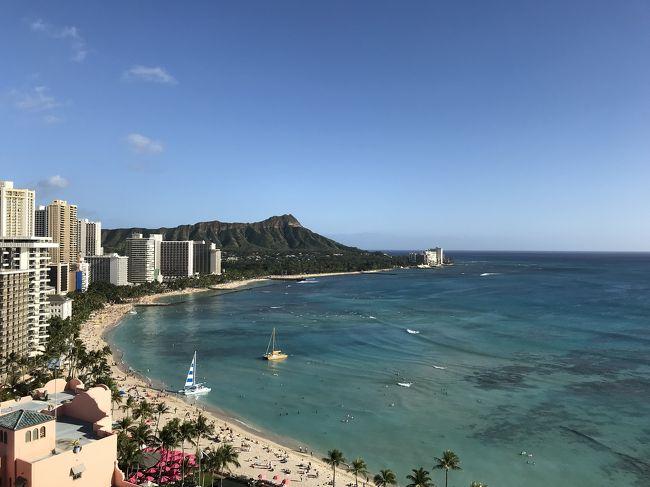 娘がハワイで結婚式をするというので、行って参りました♡<br />その1は、出発から挙式までの記録です。<br />