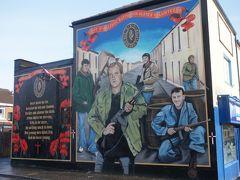 ベルファスト 壁画を巡り市内散策