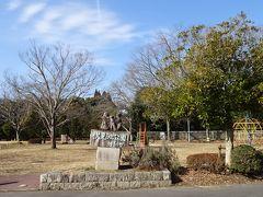 「いながわ彫刻の道」 下調べで伏見池公園へ行きました。