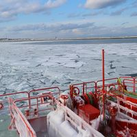 進め!ガリンコ号2!流氷っぽいのをシャリシャリ砕け!2018オホーツクの冬