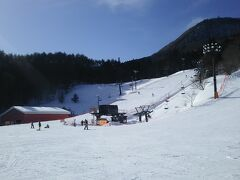 インター降りても無雪で楽々、ノルン水上スキー場。