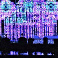 蒲郡-2 ラグナシアa 水上イルミネーション「青の宮殿」 ☆案内人がついて説明も