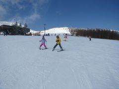 2017-2018シーズン二度目のスキーは、白樺湖&車山高原で、ついに4人でゲレンデ滑走☆