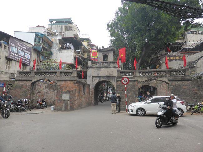 ここのところ中国旅行続きでしたが、今回は中国を飛び越えてラオスとベトナムへ。ラオスは以前から度々行き先候補に挙がっていたものの、決定打がなくいつも落選でした。今回、行ったことのない国・子連れでも安心・日数が少なくても楽しめるという点で、満を期してラオスのルアンパバーンへ!<br /><br />帰りは乗継地のハノイでちょこっと寄り道もしてきました。<br /><br />******************************************************<br /><br />往路は同日乗継でしたが、復路はハノイで一泊です。二度目のハノイですが、前回はハロン湾に時間を割いてしまったためハノイ観光は不完全燃焼でした。<br /><br />【前回のハノイでやり残したことリスト】<br />〇ハノイ旧市街散策、東河門を見る。<br />〇ダックキムでブンチャーを食べる<br />〇スーパーでお土産調達<br /><br />さて、どれだけできるかな?