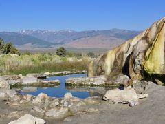 キャンプしに、はるばるオレゴン、カリフォルニア Day11-1(自己判定5つ星の早朝野天風呂、Travertine Hot Spring)