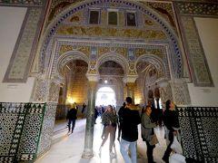 2017.12アンダルシアドライブ旅行19-アルカサル2 フェリペ2世の天井の間,ゴシックの宮殿など