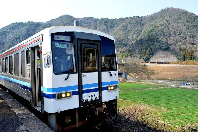 廃止が決定した三江線に乗りに行きました。ゆめタウン江津にあるモスで食事をとり、江津駅12時34分発浜原行に乗車します。車内は江津到着時点でほとんど埋まっていました。各駅ごとに写真を撮る人が多くいました。鹿賀駅で下車し江津行に乗りました。この列車はかなりの満員でした。江津到着後スーパーおき4号で出雲市へ戻ります。