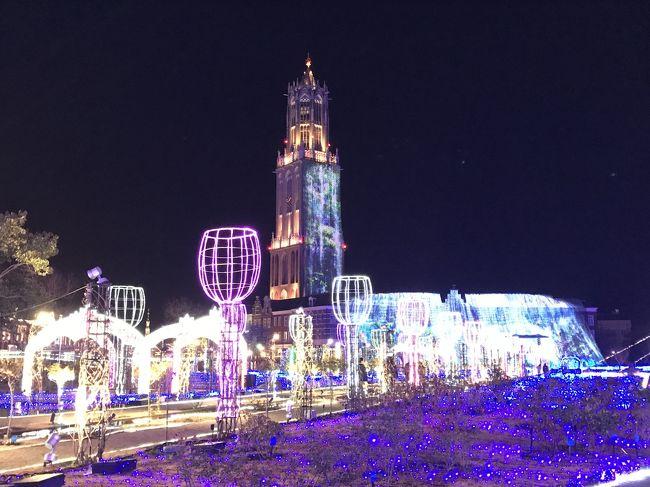 いよいよメインのイルミネーション、光の王国!<br />パレスハウステンボスのショーの時間に間に合うように動きました。<br /><br />ところで、オランダにもイルミネーションあるのか!? うふふ、実はあるのです!!<br />オランダでは、毎年クリスマスシーズンになると各地でクリスマスマーケットがありますが、それに合わせて街中もイルミネーションが見られるとか。アムステルダムでは11月~1月位にかけて、ライトフェスティバルがあるので、ライトアップされた運河を楽しめるそうです。実は、最初は11月末~12月にオランダ旅行を計画したので、調べるだけは調べました(笑)。<br /><br />https://amsterdamlightfestival.com/<br /><br />翌日のアトラクション巡りの写真も載せています^^