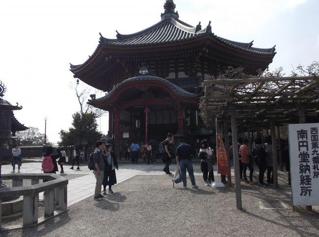 南円堂、五重の塔を見に行きました。