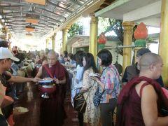 kirin夫妻のビルマ紀行(4)チャッカワイン僧院の昼食を見学す