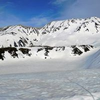 2018年4月 その4 室堂で雪原を歩きみくりが池まで行きました。立山自然保護センターへは雪の回廊です。