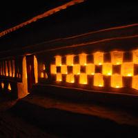 雪旅籠の灯り 月山志津温泉