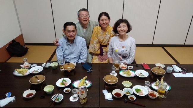 2日間のホームスティを受け入れました。名古屋の友人夫妻です。泊まりは我が家の母屋です。朝食は我が家のホワイトハウスで一緒でしたが、夕方からは1日目はさくらの湯で入浴後に食事して、歩いて帰りました。2日目はみのやで入浴後にラーメンやまだで食事して、タクシーで帰りました。<br /><br />あいにく、ぎふ蝶はこちらでは取れなかったようですが、秋山郷では4匹取れたそうです。今日は猪苗代湖まで行くそうで、先ほど出発しました。