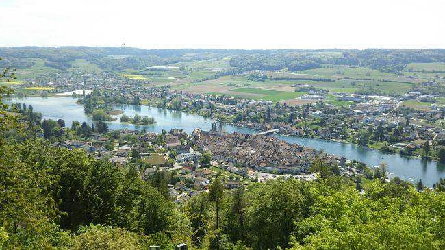 子供のころから漠然とした憧れを抱いていた念願のスイスへ。<br /><br />かなり交通ネットワークが発達していて、各地への移動も非常に便利。<br />荷物を持って移動するのは面倒なので、チューリッヒを拠点にして列車で各地を巡ることに。<br /><br />出発前におおまかなスケジュールを考えておき、あとは現地の天気予報をチェックしてどこに行くかを決めました。<br />残念ながら天候に恵まれず、予定していたツェルマット行きは諦めましたが、どの都市も素晴らしくてスイスが大好きになりました。<br /><br /><今回の旅のルート><br /><br />1日目;関西空港→チューリッヒ空港(日付が変わって翌日に現地到着) <br />2日目;ラインの滝、シュタイン・アム・ライン、ザンクト・ガレン観光 - この旅行記<br />3日目;フリブール、ベルン、ルツェルン観光<br />4日目;リヒテンシュタイン、マイエンフェルト、クール観光<br />5日目;グリンデルワルト、インターラーケン、シュピーツ、トゥーン観光<br />6日目;チューリッヒ観光、チューリッヒ空港→関西空港(日付が変わって翌日に帰国)<br />
