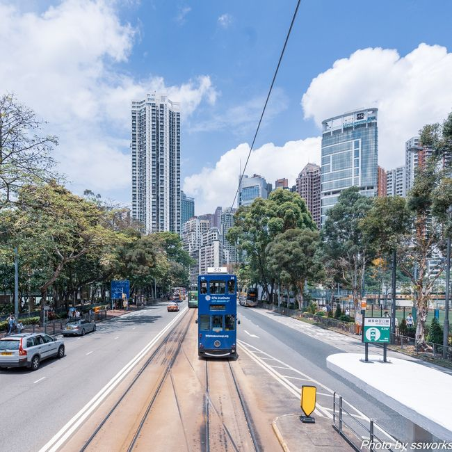 香港には世界で3カ所しかない2階建てトラムが走っており、生活に密着したトラムに魅せられて旅行を決行<br />今回は2017年11月、2018年1月、2018年3月に続き第四弾<br /><br />■フライト<br />行き 4月30日(月) NH809<br />東京(成田) - 香港<br />09:50発 - 13:40着<br /><br />帰り 5月4日(金) NH822<br />香港 - 東京(羽田)<br />1:05発 - 6:10着<br /><br />■ホテル<br />OZO Wesley Hong Kong