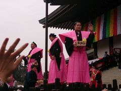 成田山新勝寺の節分会。遠藤関と遭遇。