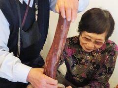 新竹‐7 北埔: 擂茶(レイチャ)体験 客家の伝統飲料 ☆すりこぎ回しは難儀で