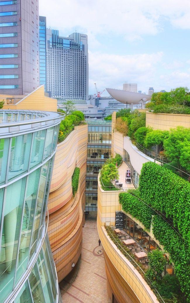 """大阪は、ここ数年インバウンドの観光客が急増してきました。以前は、大阪は京都や奈良と違ってあまり観光名所がないので、スルーされることが多かったのですが、最近は、特にミナミと呼ばれる道頓堀から心斎橋周辺の難波エリアは外国人の人がめっきり多くなりました。日本一の高さを誇るビル『あべのハルカス』や『通天閣』や『新世界』がある天王寺周辺も人気の観光エリアになっています。<br /><br />またこれ以外にも大阪には外国人に人気の先鋭的な建築物がいくつかあり、その代表的なものが<梅田スカイビル>です。<br /><br />大阪・キタにある<梅田スカイビル>は、以前から外国人に大変人気があり、多くの観光客が写真を撮る場所。実際、イギリスのタイムズ紙が行った「世界の建物トップ20」に日本で唯一選ばれているのだそうです。40階建ての超高層ビル2棟を、最上部の「空中庭園」で連結させたフォルムがまるで「未来の凱旋門」だと評価されているのだとか。<br /><br />そしてもう一つは、大阪・ミナミの<なんばパークス>。先日、知り合いの外国人から教えてもらいました。「ええっ、なんばパークス??」以前に何度か訪れた複合施設ですが、そのスタイリッシュな建築群に外国人が注目しているというのです。<br /><br />今回初めて知ったことですが、CNNに """"世界で最も美しい空中庭園トップ10"""" として認定され、また米誌「Travel+Leisure」に """"世界で最も美しい都市公園"""" として評価されているそうです。大阪に住みながら、""""世界で最も美しい空中庭園"""" の一つに選ばれていることは全く知らず... 心斎橋で用があったこの日に久しぶりに訪ねてみることしました。"""